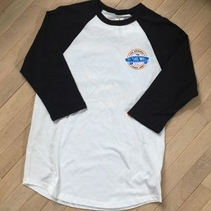 Vans off the wall baseball tee nwt